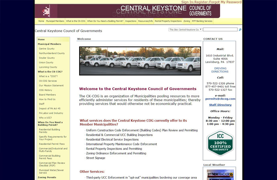 Central Keystone Council of Governments Before