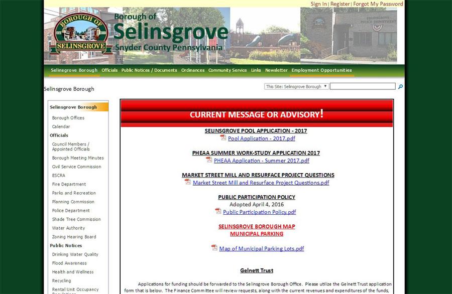 Selinsgrove Borough Before