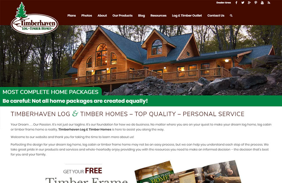 Timberhaven Log Homes After